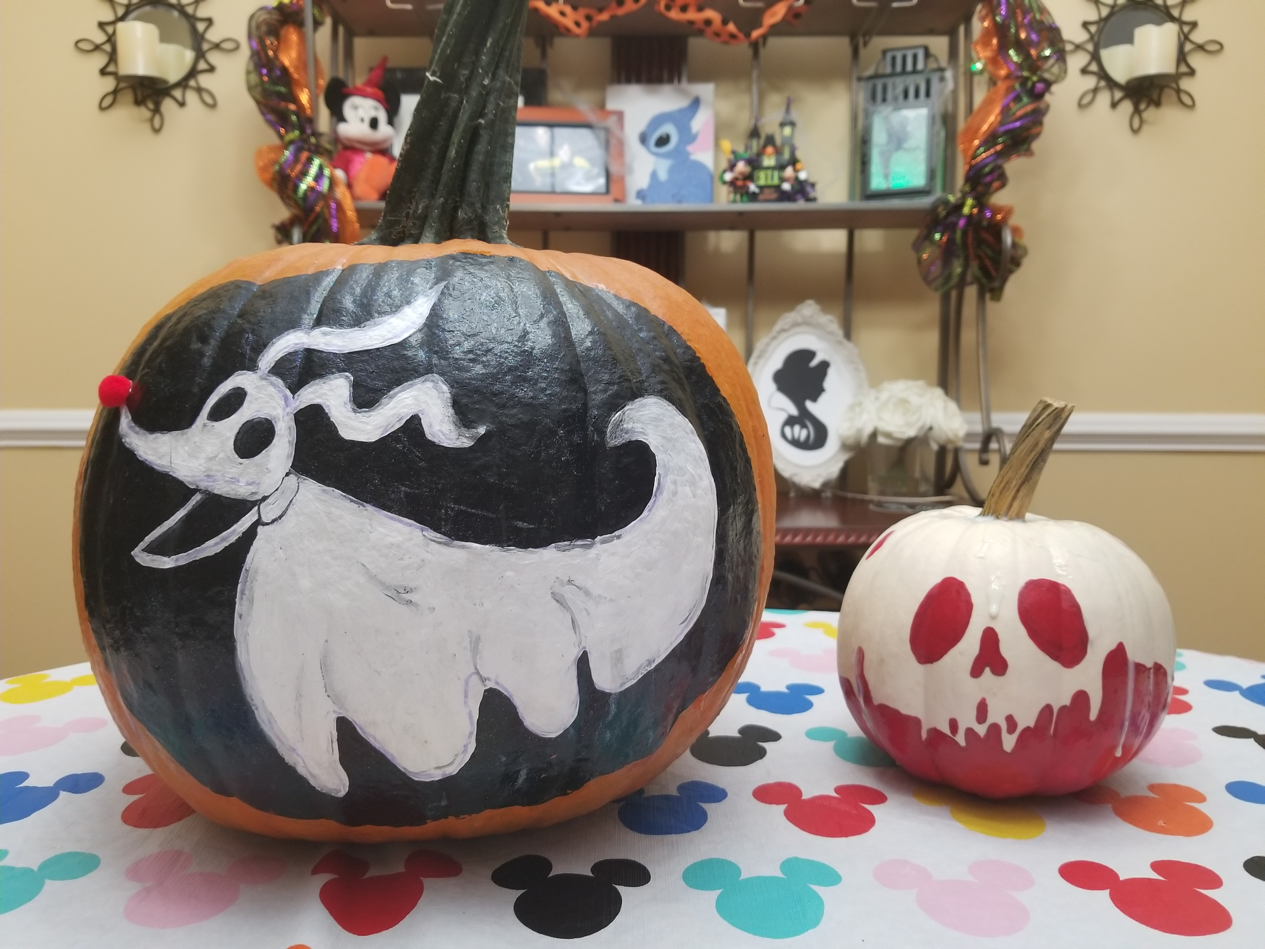 Pumpkin Painting Snow White S Poison Apple Tutorial And Zero From The Nightmare Before Christmas Edutaining Adventures